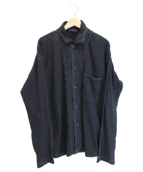 R BY 45rpm(アールバイ45アールピーエム)R BY 45rpm (アールバイ45アールピーエム) フロントポケットシャツジャケット インディゴ サイズ:4の古着・服飾アイテム