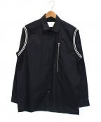 STAMPD(スタンプド)の古着「ショルダーデザインシャツ」|ブラック