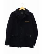 PHIGVEL(フィグベル)の古着「メルトンショートコート」 ネイビー