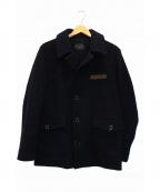PHIGVEL(フィグベル)の古着「メルトンショートコート」|ネイビー