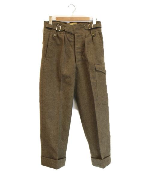 British Army(ブリティッシュアーミー)British Army (ブリティッシュアーミー) 【古着】Battle Dress Trousers オリーブ サイズ:No.7 50年代の古着・服飾アイテム