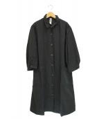 MHL(エムエイチエル)の古着「DRY COTTON LINEN SHIRT DRESS」|ブラック