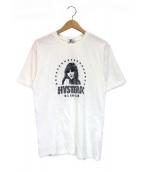 Hysteric Glamour(ヒステリックグラマー)の古着「STAR CIRCLE WOMAN刺繍Tシャツ」 ホワイト