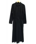 raspail(ラスパイユ)の古着「ウエストギャザーワンピース」|ブラック