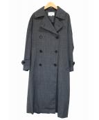 ENFOLD(エンフォルド)の古着「グレンチェックトレンチコート」|グレー