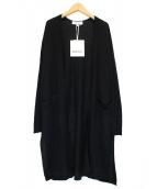 ENFOLD(エンフォルド)の古着「リネンロングカーディガン」|ブラック