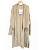 ENFOLD(エンフォルド)の古着「ロングカーディガン」|ベージュ