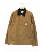 CarHartt(カーハート)の古着「コーデュロイカラーワークジャケット」|ベージュ×ブラウン