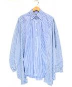 77circa(ナナナナサーカ)の古着「リメイクストライプシャツ」|ブルー