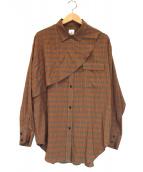 6(ROKU) BEAUTY&YOUTH(ロク ビューティアンドユース)の古着「CHECK SHIRT」 オレンジ×グリーン