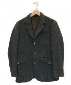 Eddie Bauer×Harris Tweed(エディーバウアー×ハリスツイード)の古着「3Bテーラードツイードジャケット」 グレー
