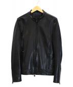 ripvanwinkle(リップヴァンウィンクル)の古着「シングルライダースジャケット」|ブラック