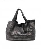 FALORNI(ファロルニ)の古着「イントレチャートレザーバッグ」|ブラック