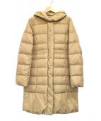 KUMIKYOKU(クミキョク)の古着「ライトタフタダウンロングコート」|ベージュ