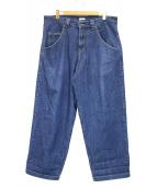 WILLY CHAVARRIA(ウィリーチャバリア)の古着「ワイドデニムパンツ」|インディゴ