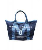 Marc by Marc Jacobs(マークバイマークジェイコブス)の古着「トートバッグ」|インディゴ×ブラック