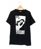 Hysteric Glamour(ヒステリックグラマー)の古着「KAZUO KAMIMURA DOUSEIJIDAI Tシャ」|ブラック