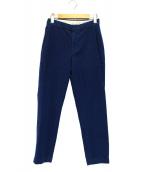 45R(フォーティファイブアール)の古着「起毛ストレッチテーパードパンツ」|ブルー
