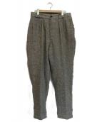 NIGEL CABOURN(ナイジェルケーボン)の古着「ハウンドトゥースタックパンツ」|グレー×ブルー