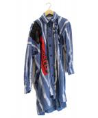 VIVIENNE WESTWOOD ANGLOMANIA(ヴィヴィアンウエストウッド アングロマニア)の古着「アナーキーシャツワンピース」 ブルー