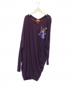 Vivienne Westwood RED LABEL()の古着「Vネックビッグカットソー」|ボルドー
