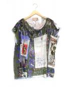 Vivienne Westwood(ヴィヴィアンウエストウッド)の古着「デザインメッシュカットソー」|カーキ