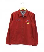 ROTAR(ローター)の古着「メカパンダ刺繍ブルゾン」|レッド