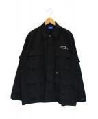 Lafayette(ラファイエット)の古着「刺繍カバーオール」 ブラック