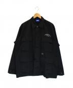 Lafayette(ラファイエット)の古着「刺繍カバーオール」|ブラック