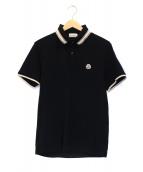MONCLER(モンクレール)の古着「ポロシャツ」|ブラック×ベージュ