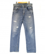 R.H.Vintage(ロンハーマンヴィンテージ)の古着「ダメージ加工デニムパンツ」 インディゴ
