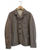 ()の古着「カルゼコットンツイードジャケット」 ブラウン