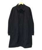 ARMANI COLLEZIONI(アルマーニコレツォーニ)の古着「ジップアップステンカラーコート」|ブラック