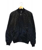 Thee Hysteric XXX(ジィヒステリックトリプルエックス)の古着「LIPS&TONGUEアップリケスーベニアジャケット」|ブラック