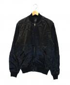Thee Hysteric XXX(ジィーヒステリックトリプルエックス)の古着「LIPS&TONGUEアップリケスーベニアジャケット」 ブラック