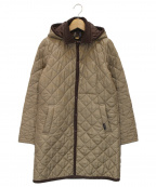 LAVENHAM(ラベンハム)の古着「フーデッドキルティングコート」|ベージュ×ブラウン