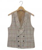GABRIELE PASINI(ガブリアルパジーニ)の古着「チェックジレ」|ベージュ