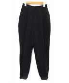 ENFOLD(エンフォルド)の古着「裾絞りジョガーパンツ」 ブラック