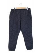 ()の古着「キルト中綿パンツ」|ネイビー