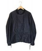 ()の古着「中綿ダブルブルゾン」|ブラック