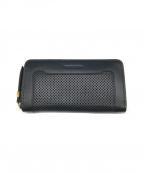 SEE BY CHLOE(シーバイクロエ)の古着「パンチングレザー長財布」|ブラック
