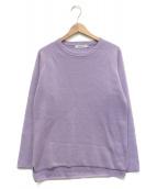 ()の古着「ミラノリブ クルーネックニット セーター」|パープル