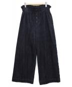 ()の古着「フロントボタンイージーデニムパンツ」 インディゴ