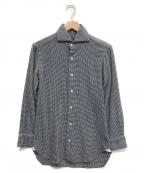 BARBA(バルバ)の古着「千鳥チェックシャツ」|ブルー