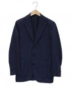caruso(カルーゾ)の古着「シルク混テーラードジャケット」|ネイビー