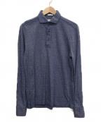 GUY ROVER(ギローバー)の古着「ロングスリーブポロシャツ」|ネイビー