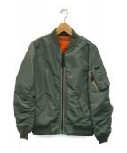 ()の古着「MA-1ジャケット」|カーキ×オレンジ
