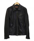 JACKROSE(ジャックローズ)の古着「ゴートレザージャケット」 ブラック