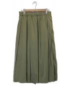 GRANDMA MAMA DAUGHTER(グランマママドーター)の古着「サテンマキシスカート」 グリーン