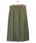 GRANDMA MAMA DAUGHTER()の古着「サテンマキシスカート」|グリーン